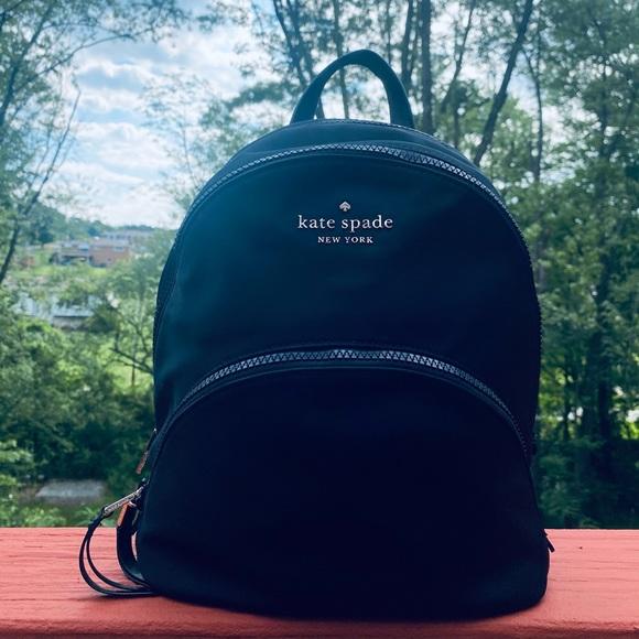 Kate Spade Karissa Nylon Medium Backpack (Black)